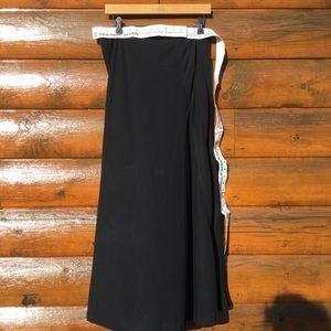 DKNY City Midi/Maxi Gored Black Skirt